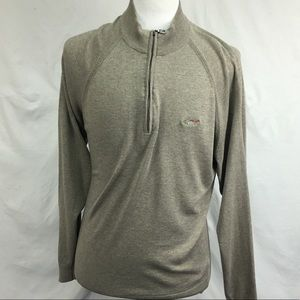 Greg Norman Olive Green 1/4 Zip Pullover Sweater